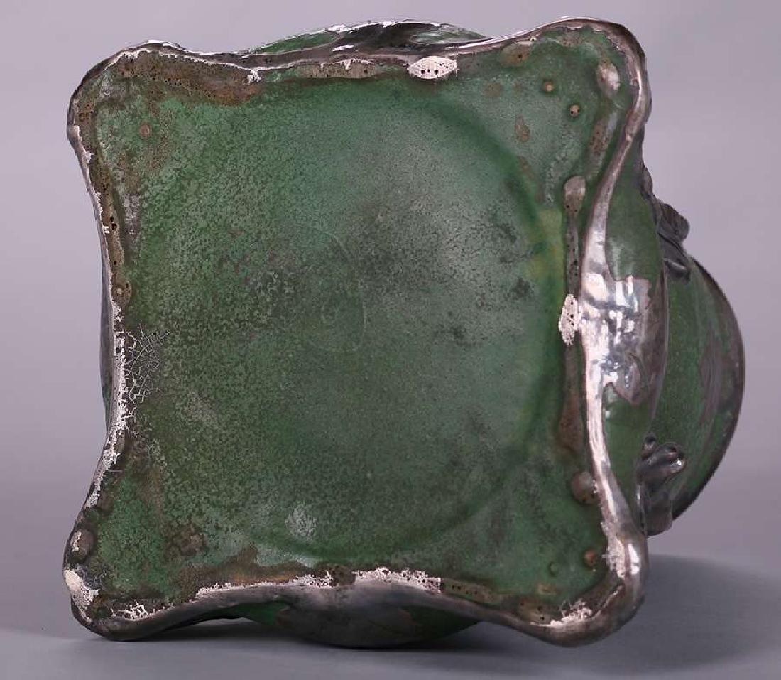 Wheatley Pottery Matte Green Vase - 4