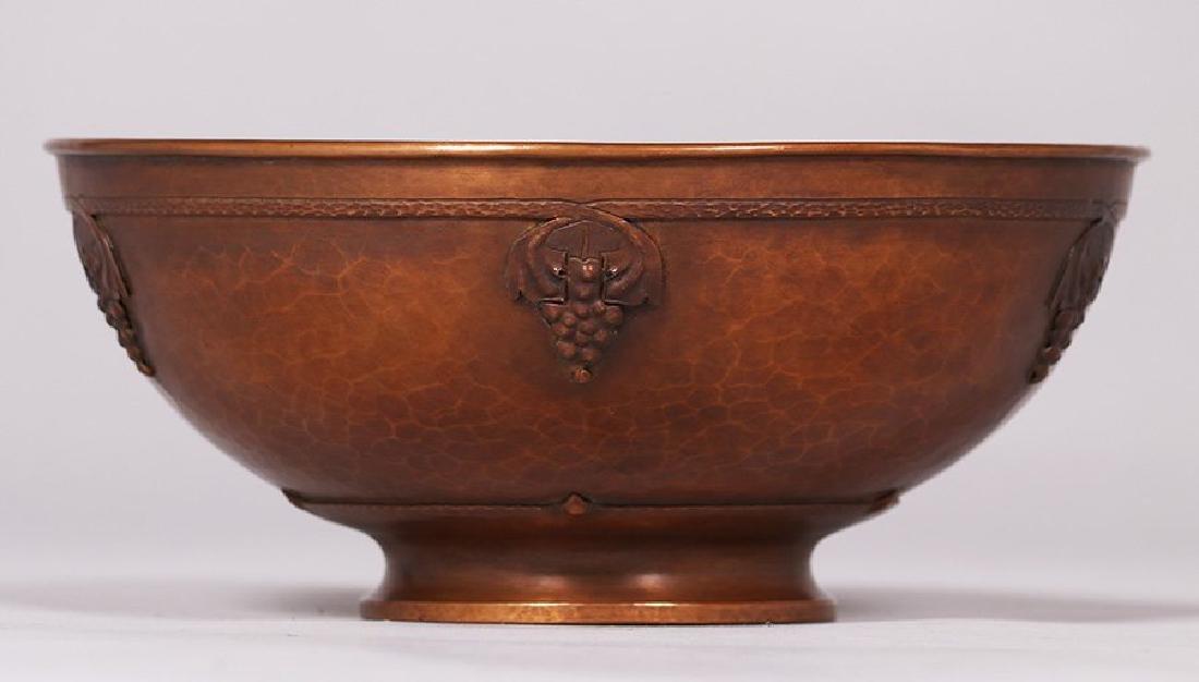 Roycroft - Karl Kipp hammered copper fruit bowl