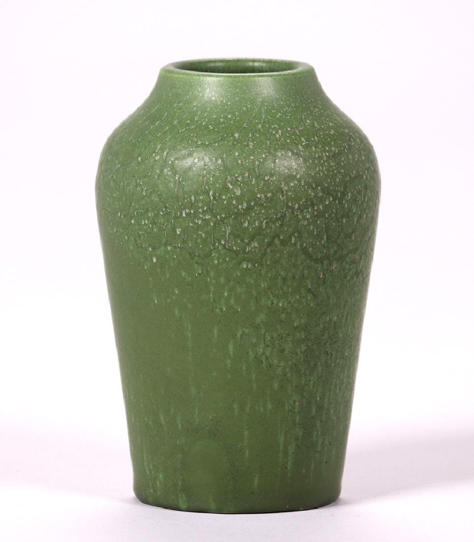 Hampshire Pottery Matte Green Vase
