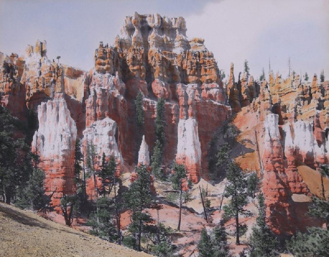 Glenn A. Davis Hand-Tinted Photo of Bryce Canyon, Utah