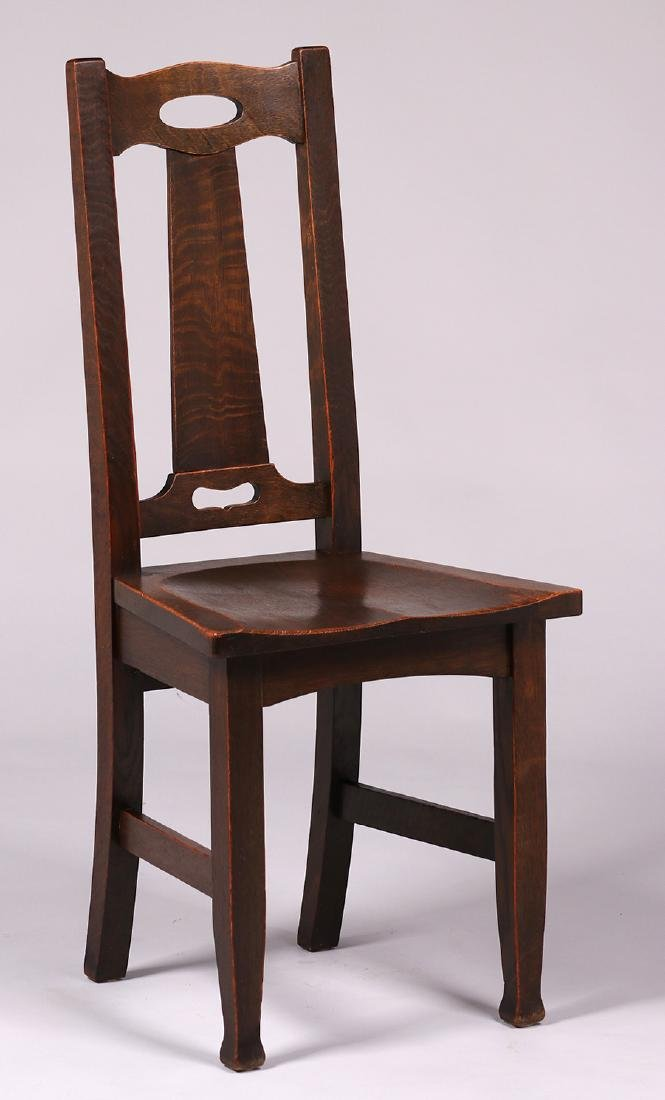 Stickley Brothers Side Chair with Cutout Handle Back - 2