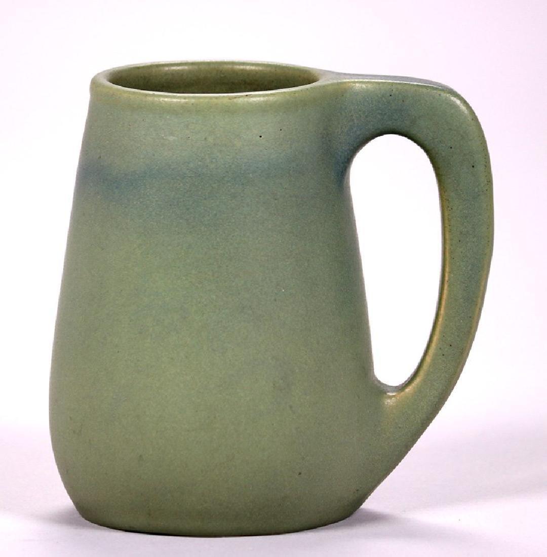 Early Van Briggle Matte Green Mug Dated 1905