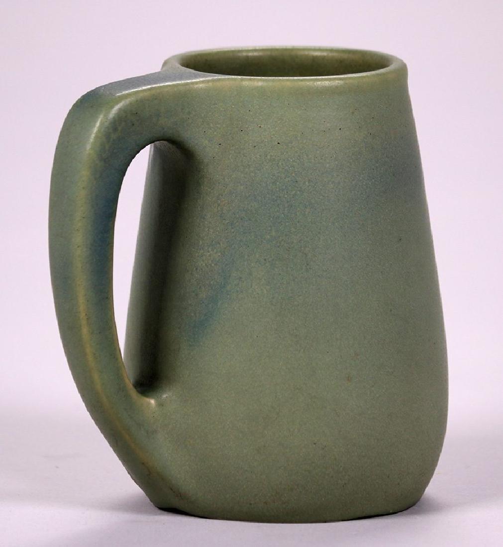 Early Van Briggle Matte Green Mug Dated 1905 - 2