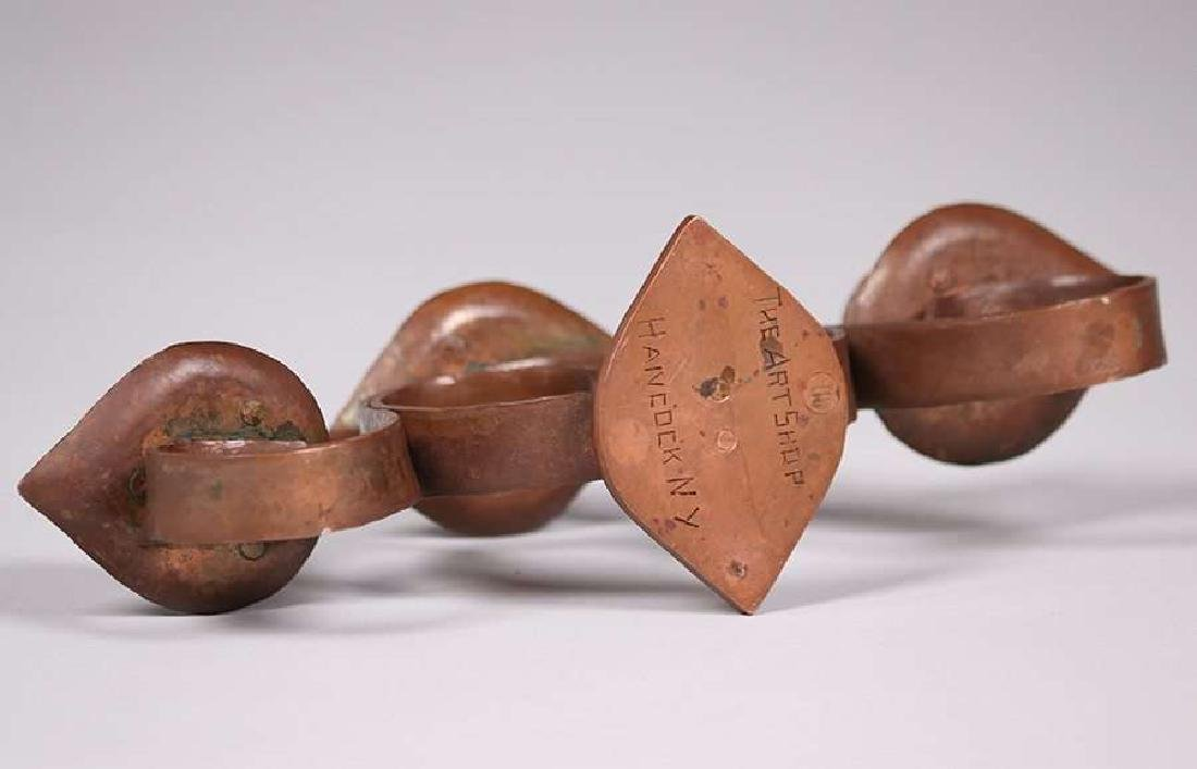 Frederick Fifield Hammered Copper Candelabra - 4