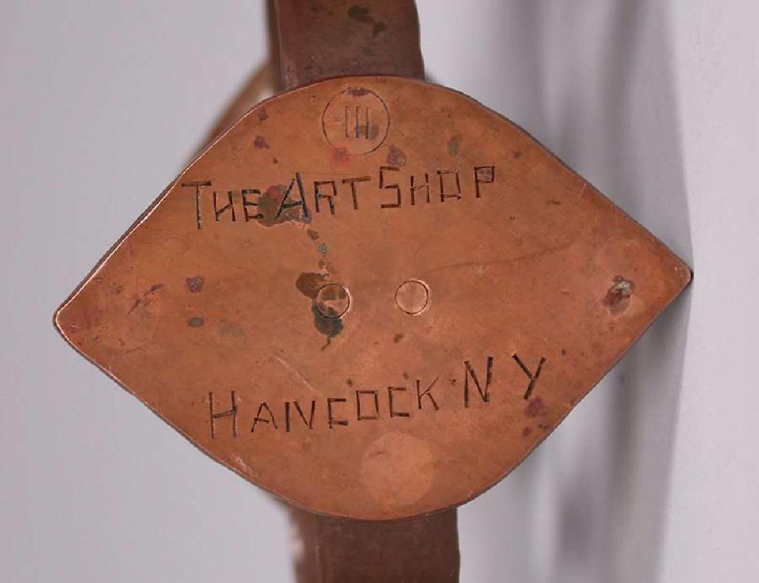 Frederick Fifield Hammered Copper Candelabra - 5