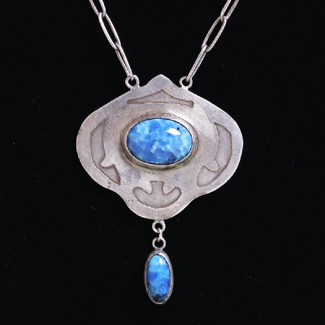 Forest Craft Guild sterling pendant necklace