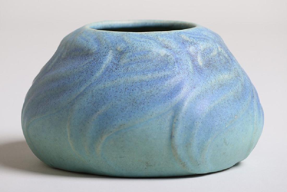 Van Briggle Squat Vase #849 Matte Blue Glaze