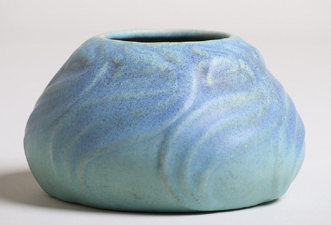 Van Briggle Squat Vase #849 Matte Blue Glaze - 2