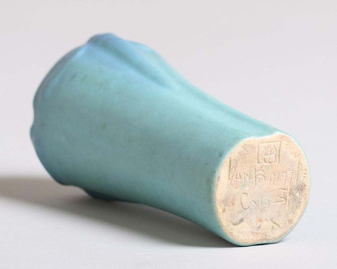 Van Briggle Dragonfly Turquoise Vase c1930s - 2