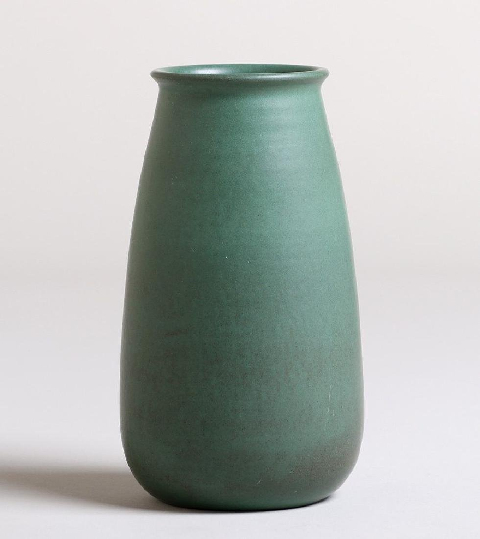 Marblehead Pottery matte green vase