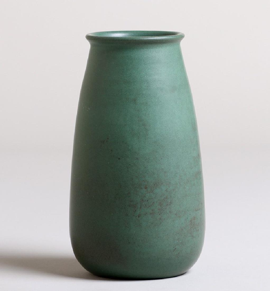 Marblehead Pottery Matte Green Vase - 2