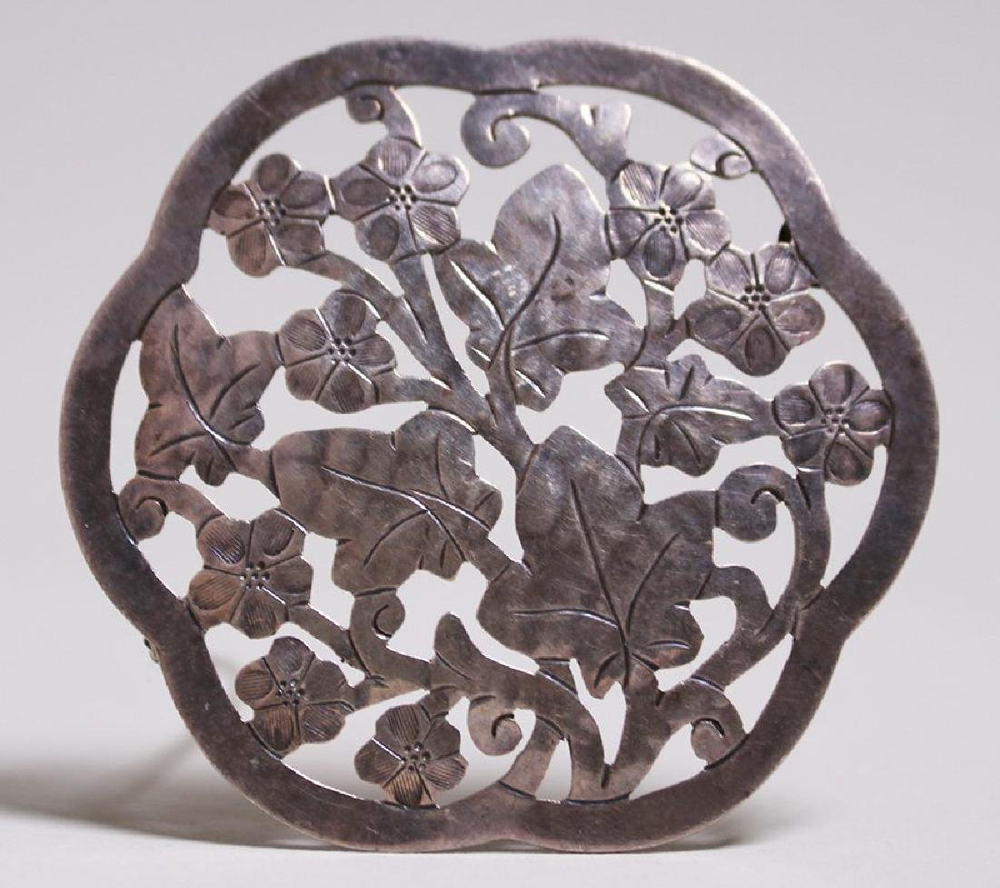 Gregor Panis Sterling Silver Cutout Circular Brooch