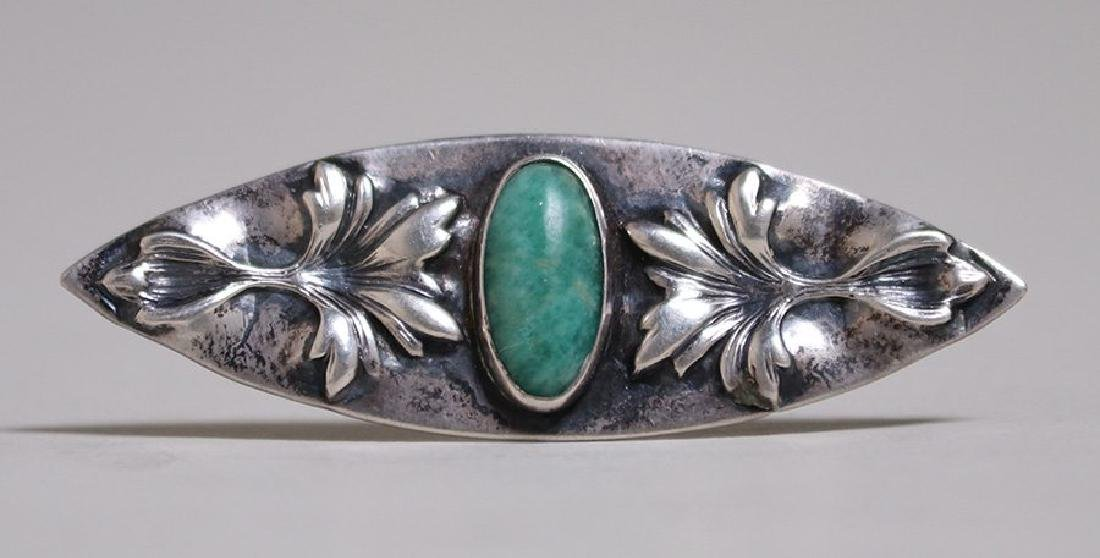 Chicago Arts & Crafts Sterling Silver Oval Brooch