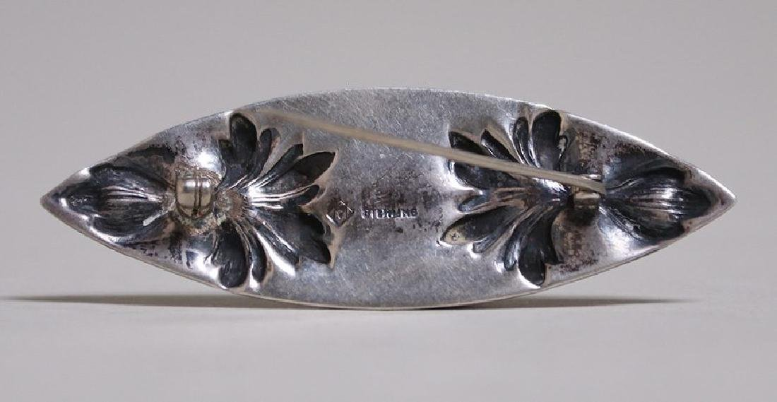 Chicago Arts & Crafts Sterling Silver Oval Brooch - 2
