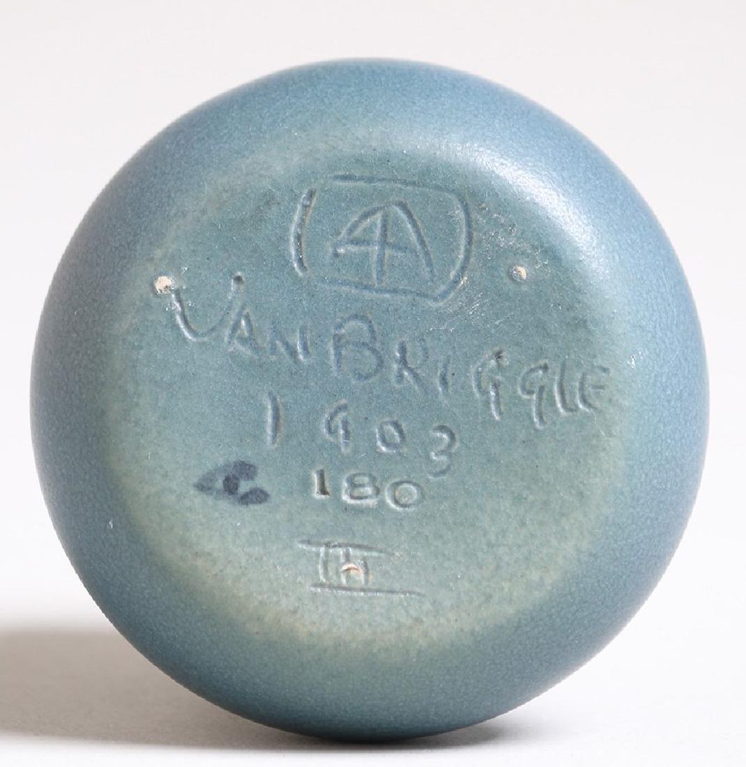 Early Van Briggle Matte Blue Vase Dated 1903 - 2