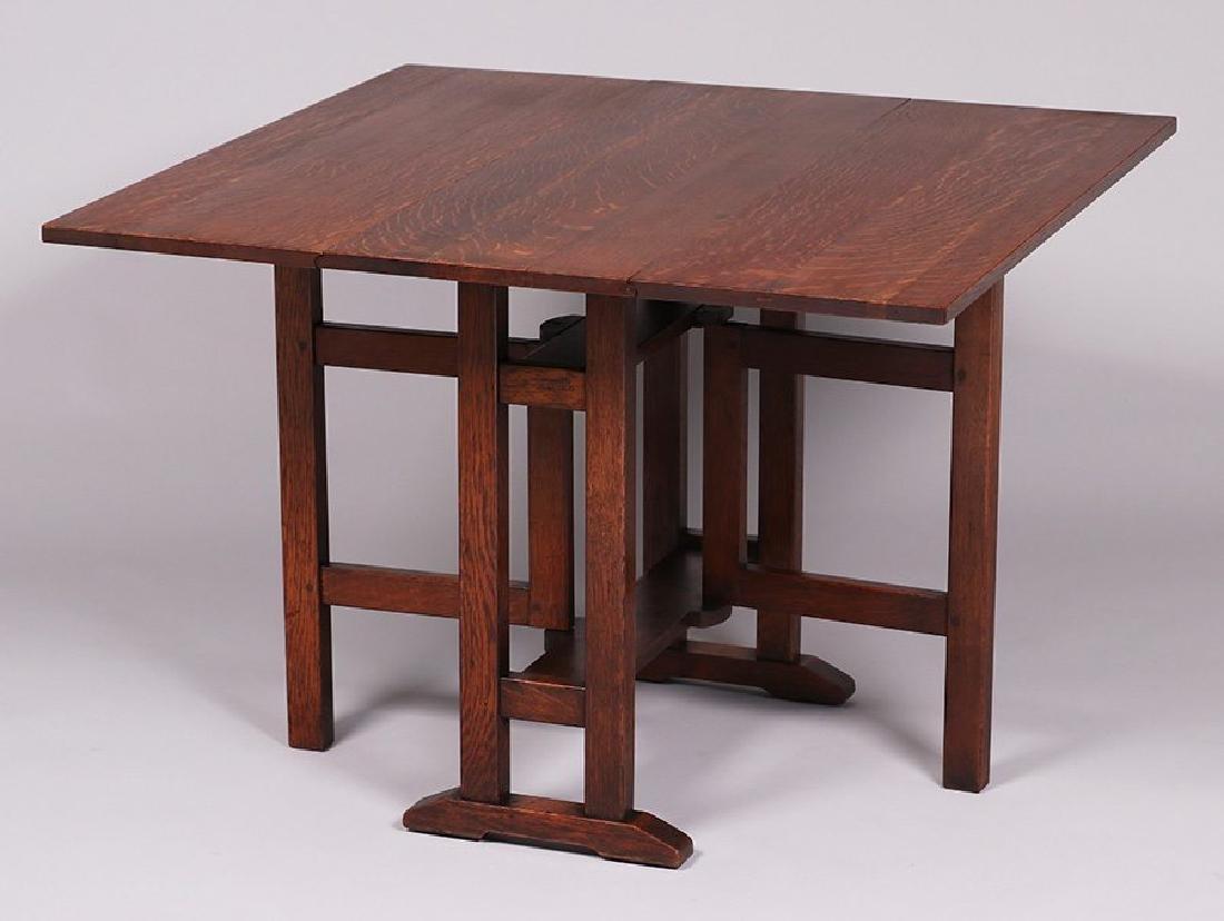 L&JG Stickley gate-leg table c1912-1916.