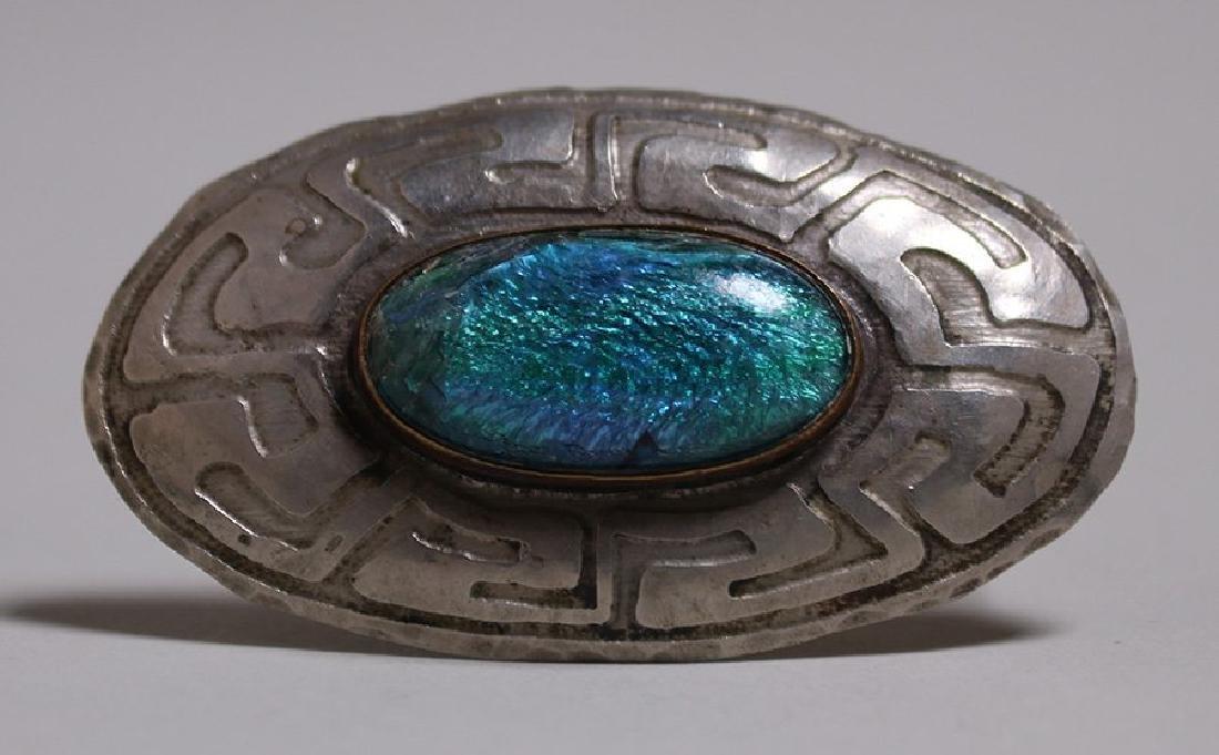Forest Craft Guild German Silver acid-etched brooch