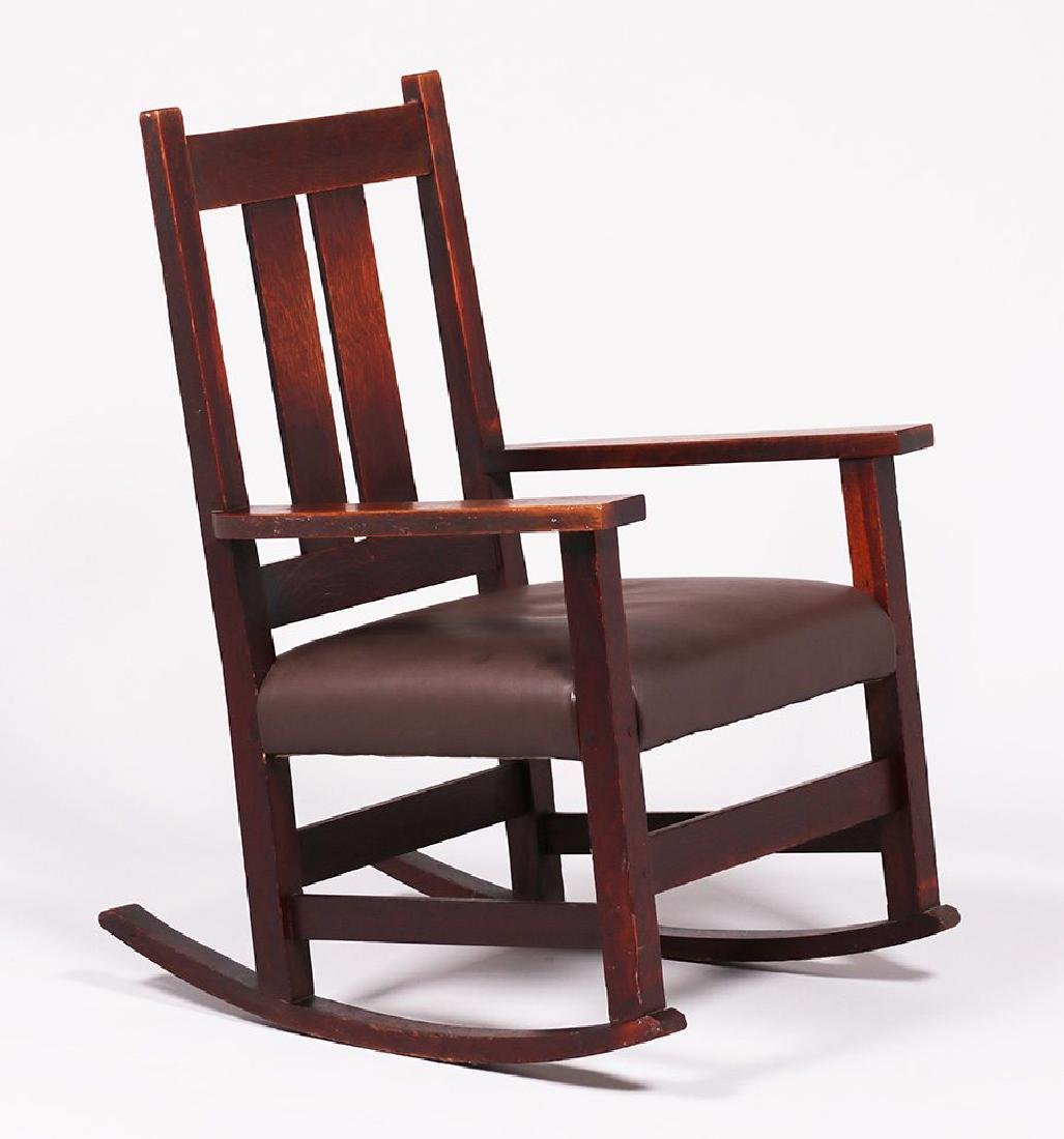 L&JG Stickley Onondaga Rocker c1902-1904