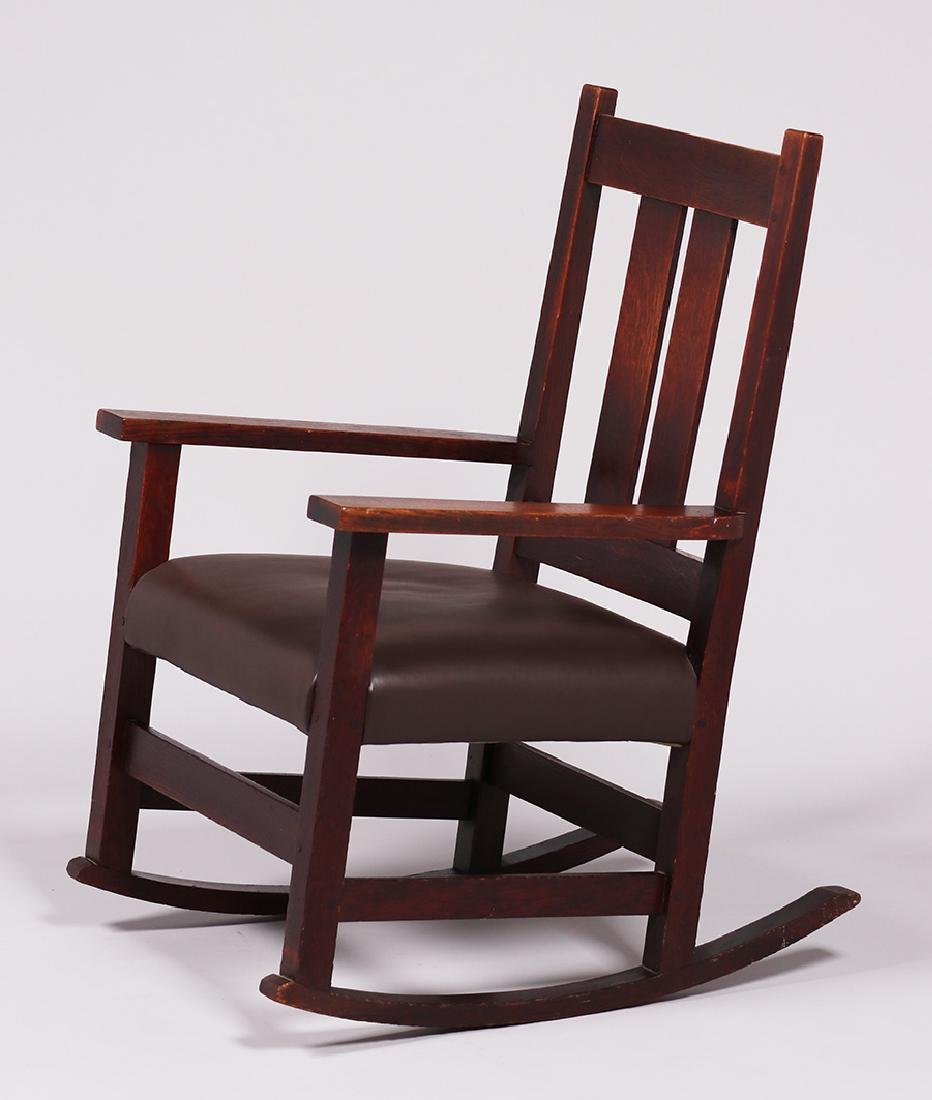 L&JG Stickley Onondaga Rocker c1902-1904 - 2