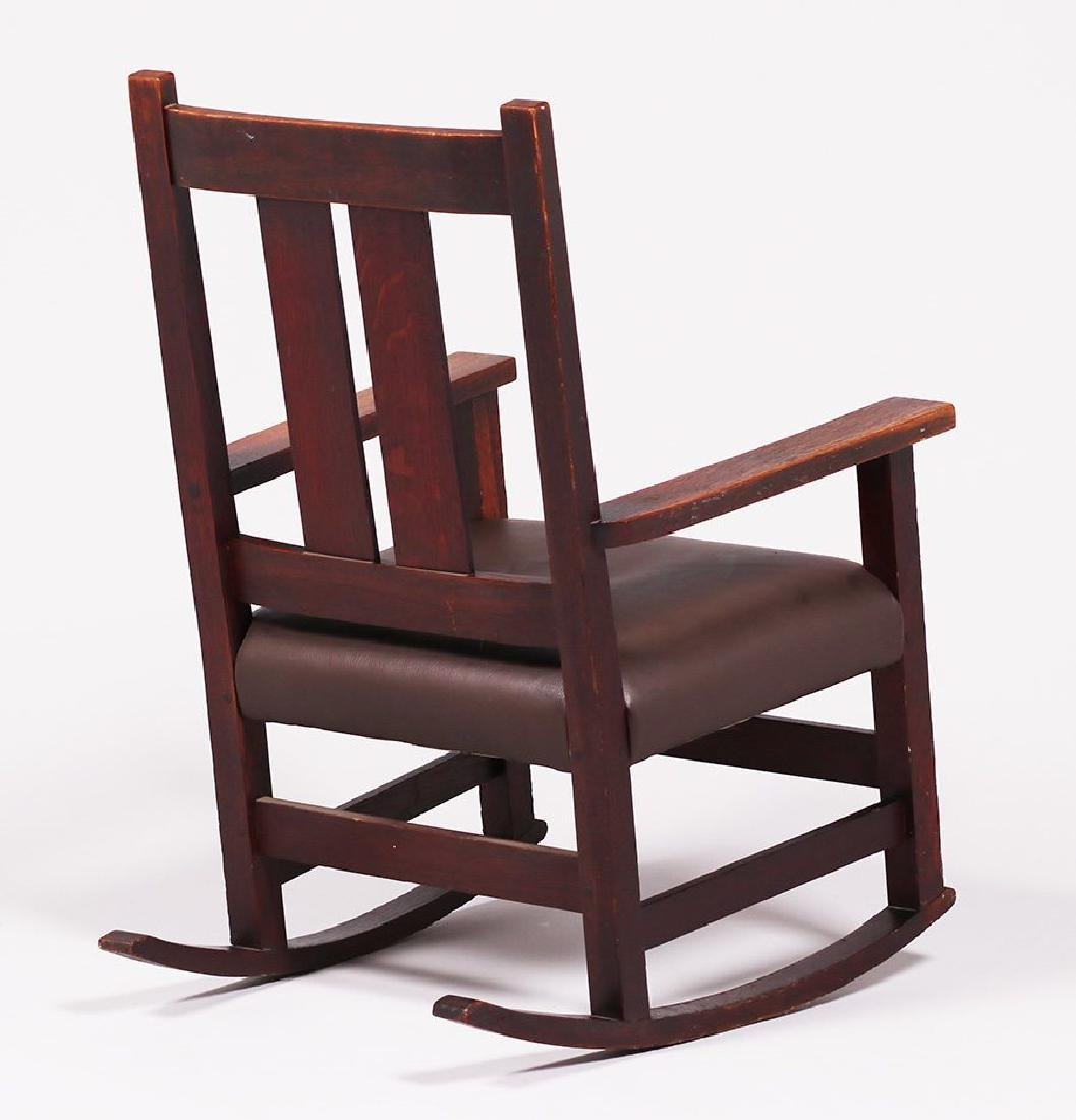 L&JG Stickley Onondaga Rocker c1902-1904 - 3