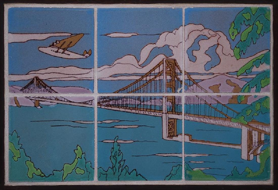 Taylor Golden Gate Bridge six-tile frieze