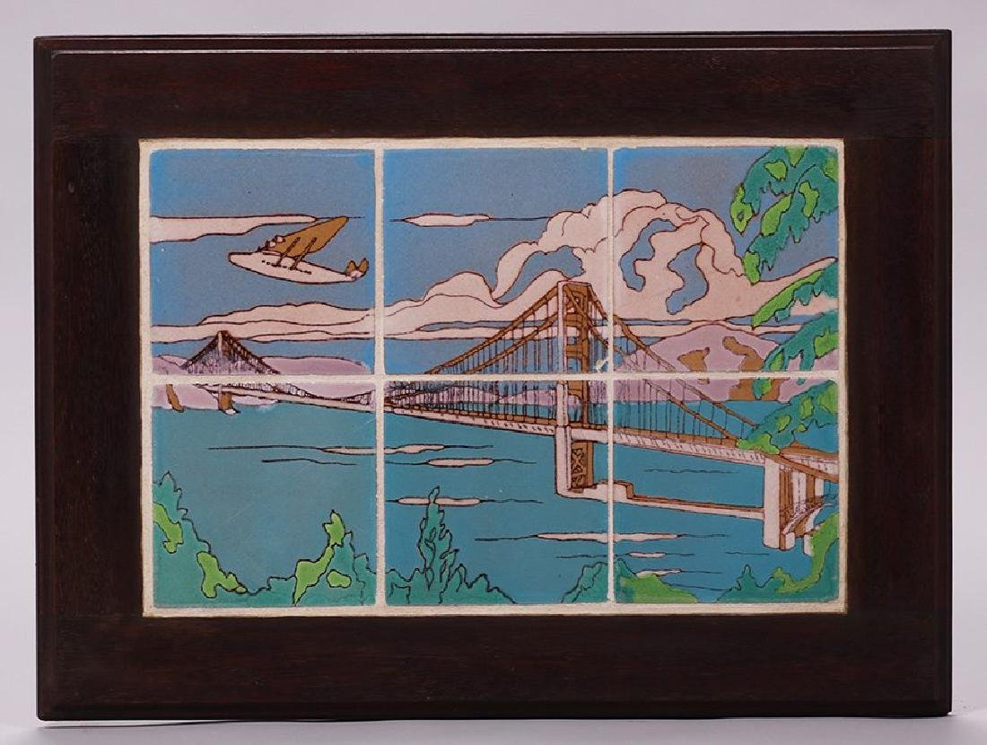 Taylor Golden Gate Bridge Six-Tile Frieze - 2