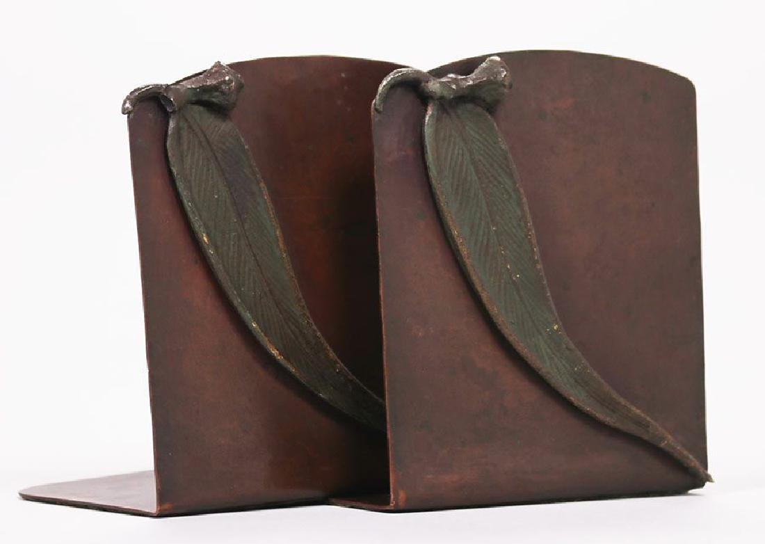 Jauchen's Olde Copper Shop hammered copper bookends