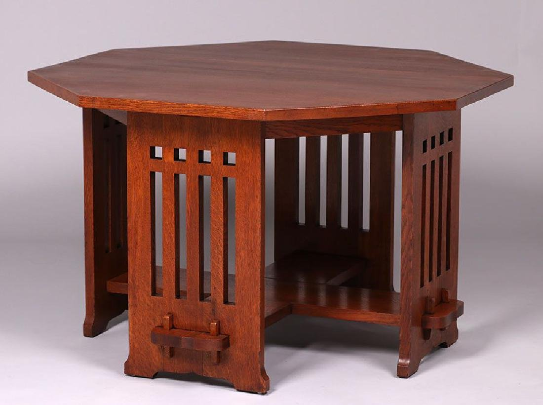 Limbert octagonal library table with Vienna