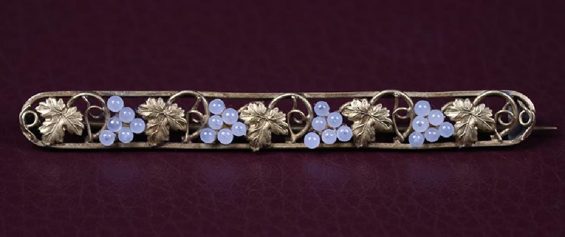 Boston Arts & Crafts 14k Grapevine 14k Gold Brooch
