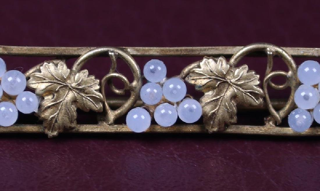Boston Arts & Crafts 14k Grapevine 14k Gold Brooch - 2