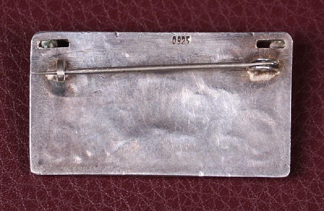 Arts & Crafts Sterling Silver Rectangular-Shaped Brooch - 2