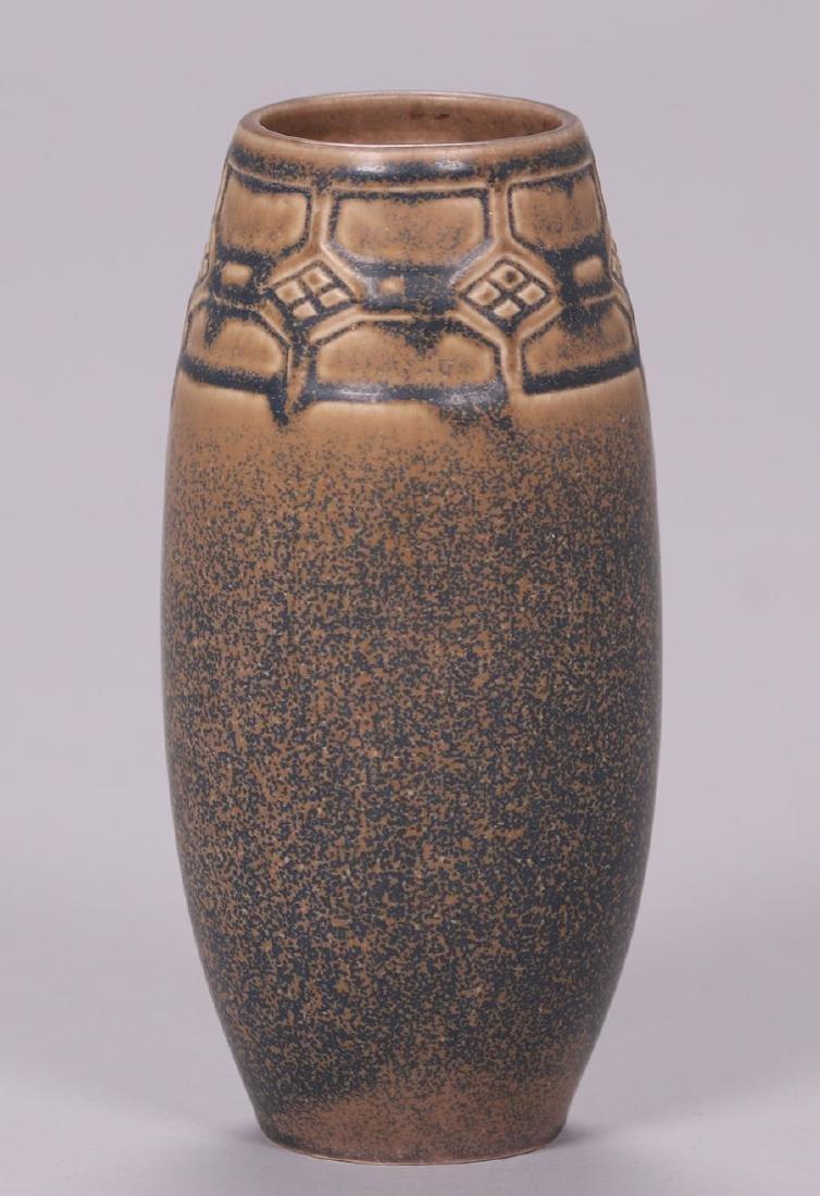 Rookwood Matte Brown Ombroso Glaze Vase #2435 - 2