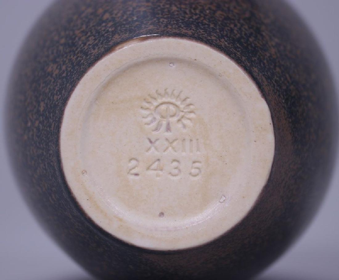 Rookwood Matte Brown Ombroso Glaze Vase #2435 - 3