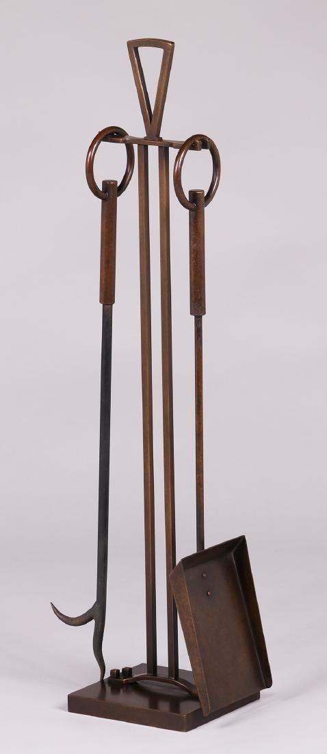 Dirk van Erp mid-century fireplace tools