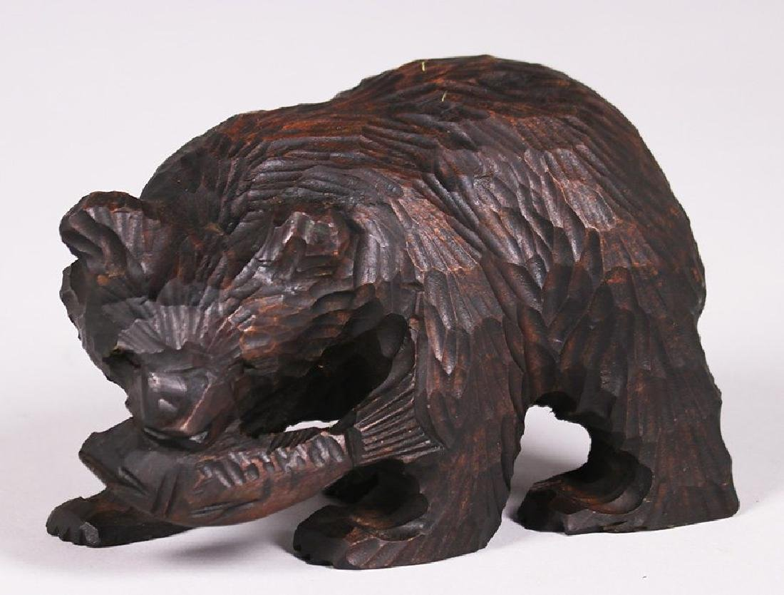 Japanese Arts & Crafts Hand Carved Bear from Hokkaido