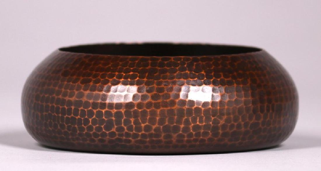 Roycroft hammered copper closed bowl.
