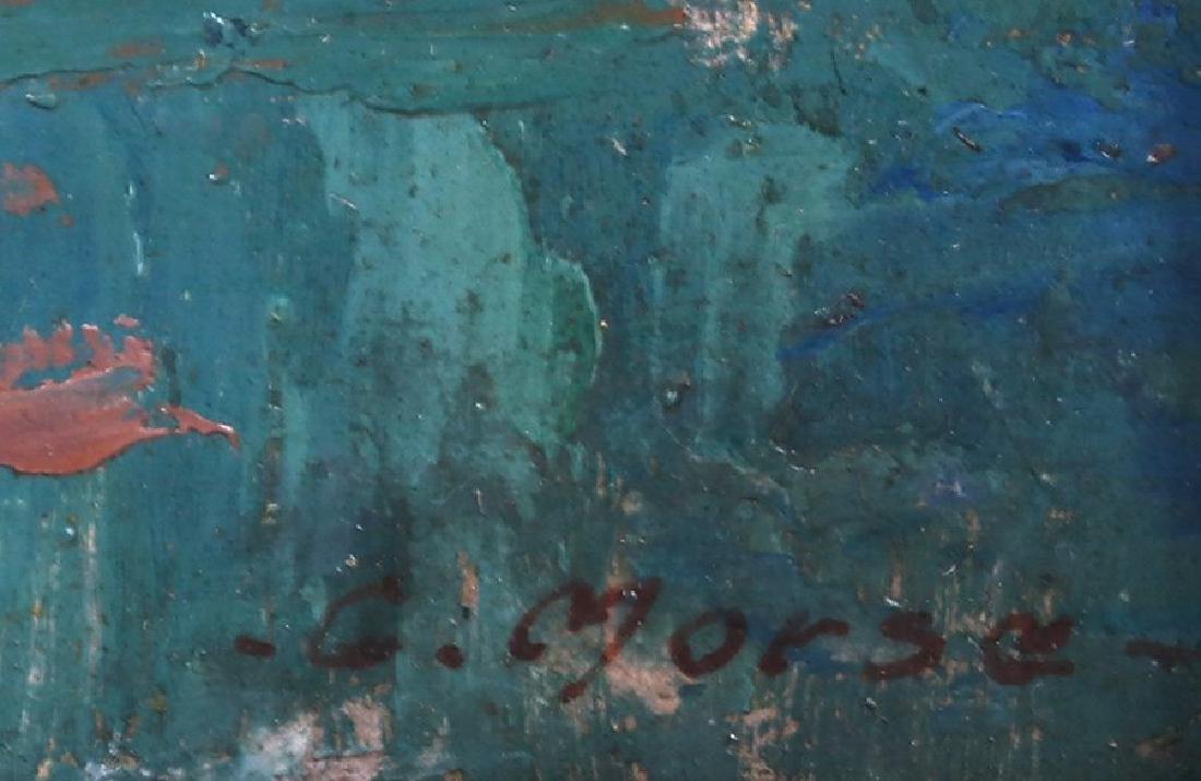 G. Morse Oil Painting of Sierra Mountain Lake c1910 - 3
