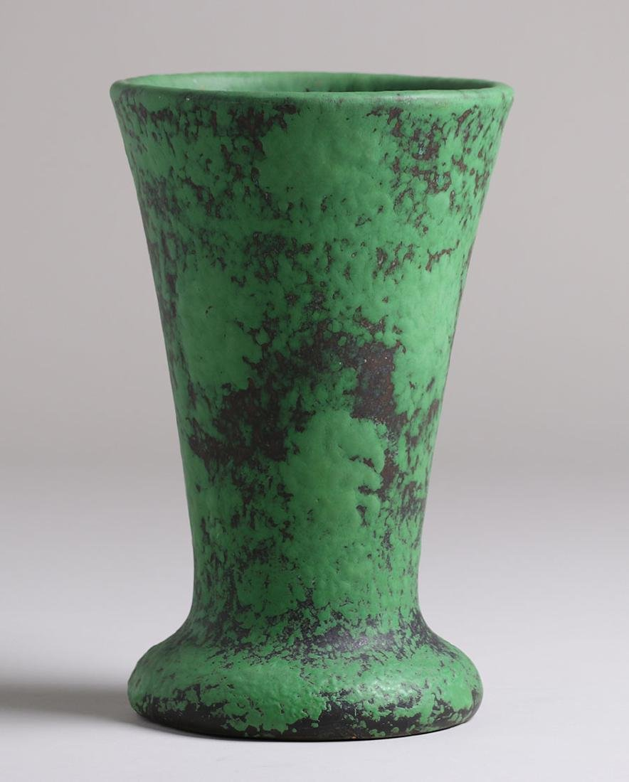 Weller Coppertone Flared Green Vase