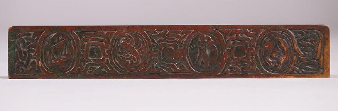Tiffany Studios Bronze Zodiac Desk Pad Holders - 4