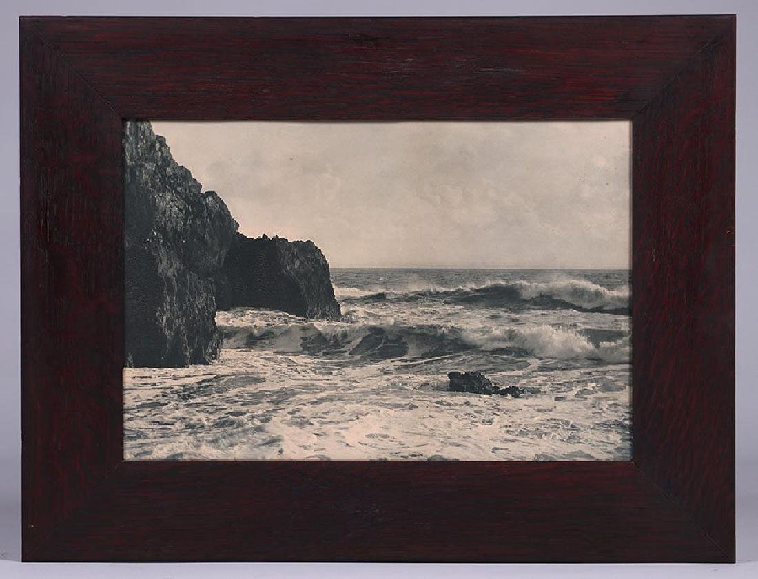 Vintage Photo of California Coast - Waves and Rocks - 2