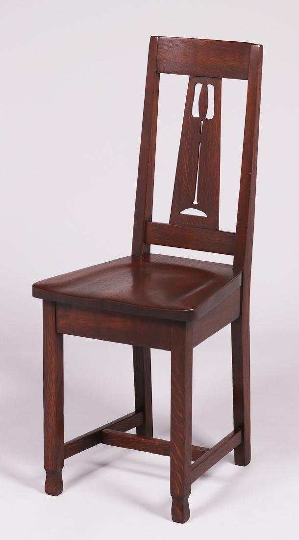 American Chair Co, Seymour, Indiana, cutout hall chair.