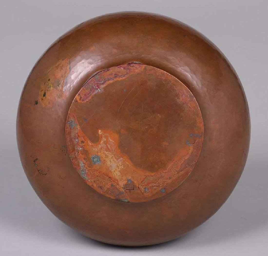 Arts & Crafts Hammered Copper Bowl EARLE - 2