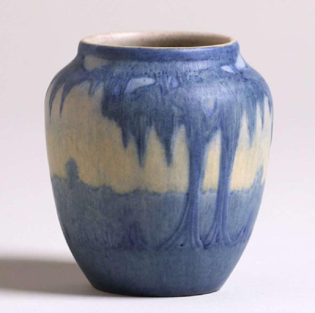 Newcomb College scenic vase decorated by Anna Francis