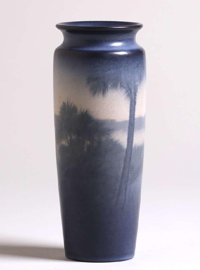 Rookwood scenic vase decorated by E.T. Hurley 1913.