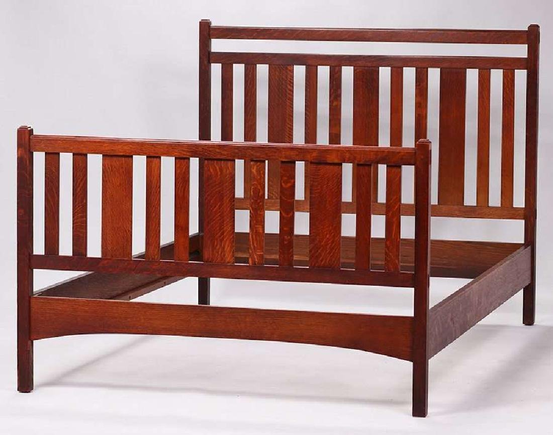 Limbert double bed c1910.