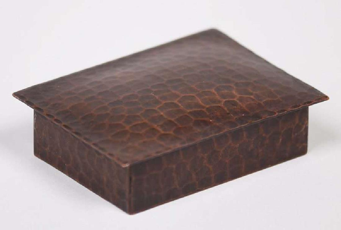 Old Mission Kopper Kraft hammered copper stamp box