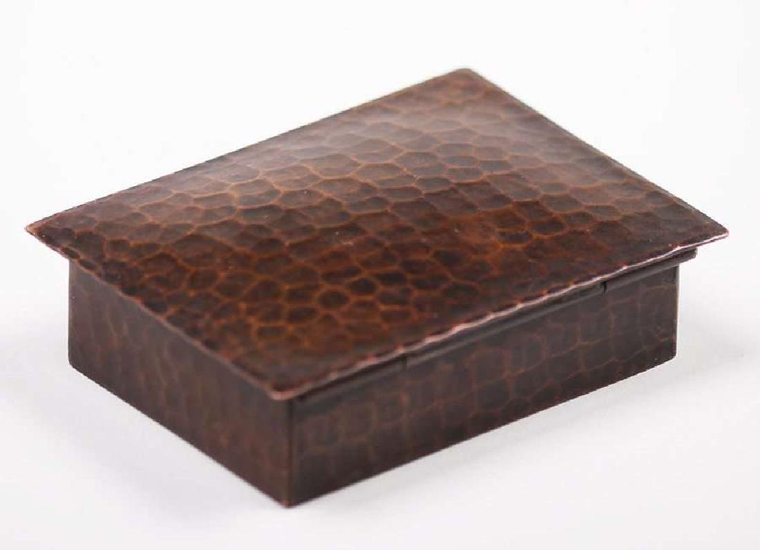 Old Mission Kopper Kraft Hammered Copper Stamp Box - 3