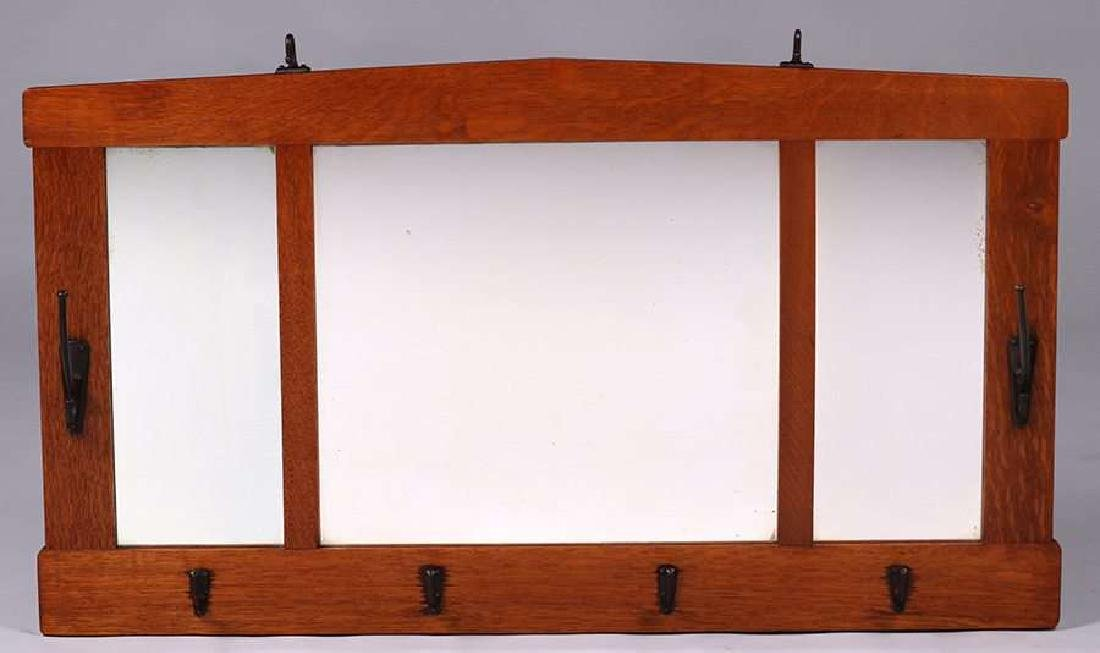 Stickley Brothers three-section hall mirror.