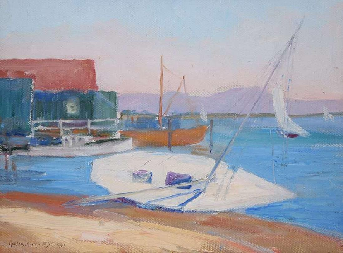 Anna Marie Valentien Painting San Diego Harbor