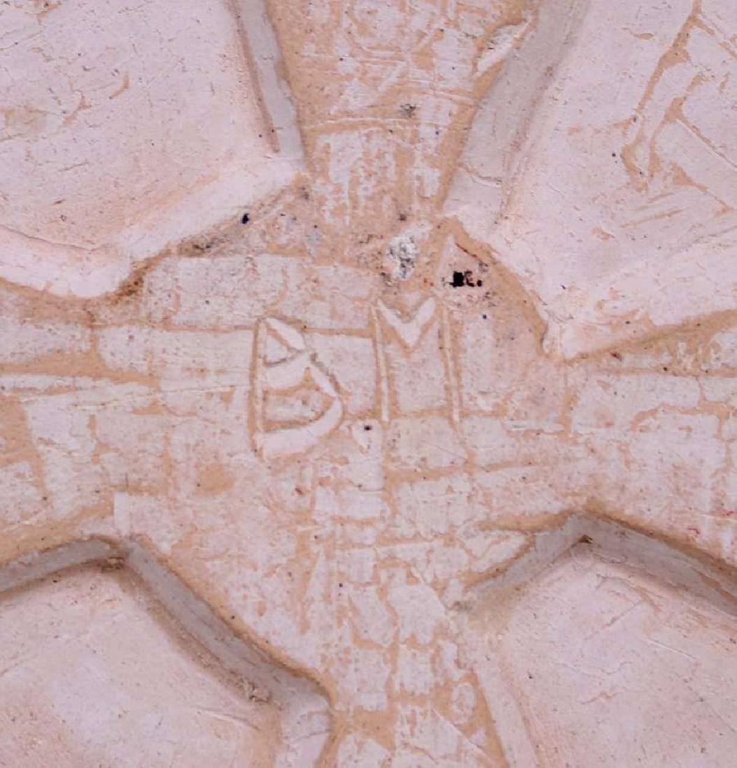 Arts & Crafts Hand-Carved Grapevine Tile c1910 - 3